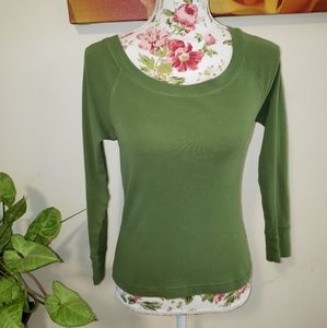 Eyeshadow Tops - Long sleeved raglan tee. Size L